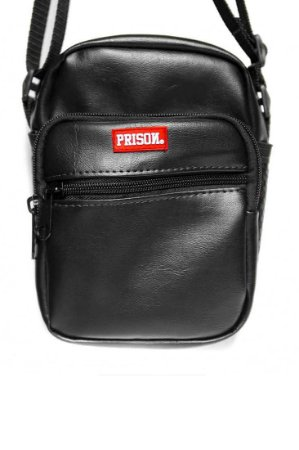 SHOULDER BAG PRISON BLACK DELUXE - PRETO COURO