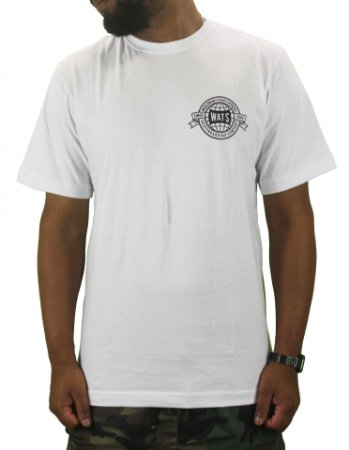 camiseta wats world white/gray