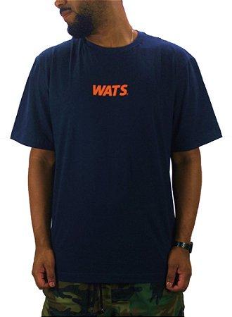 camiseta wats classic blue/salmon