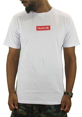 camiseta hurley box black/white