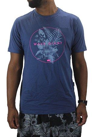 camiseta wave giant flower circular