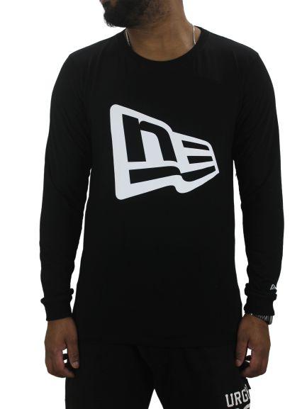 camiseta new era manga longa logo