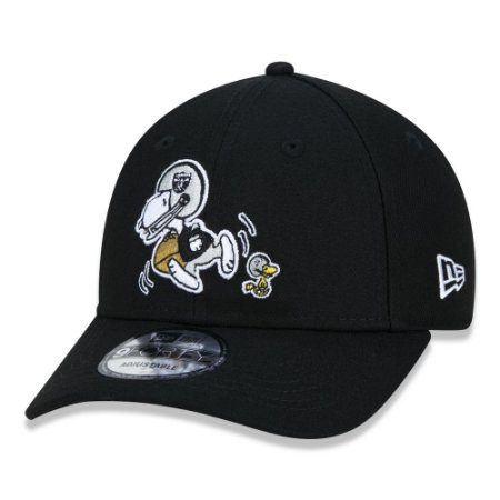 BONÉ NEW ERA 9FORTY NFL OAKLAND RAIDERS PEANUTS - SNOOPY