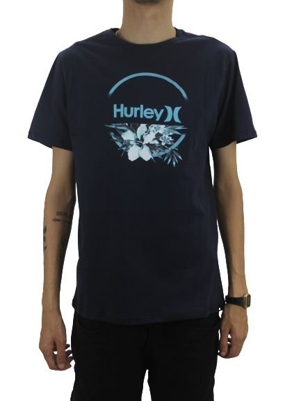 CAMISETA HURLEY FLOWERS AWAY BLUE