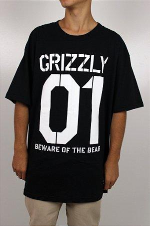 Camiseta Grizzly Beware Stencil Tee