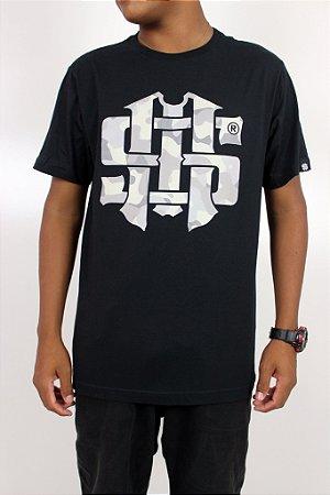 Camiseta Mess Logo Camuflado