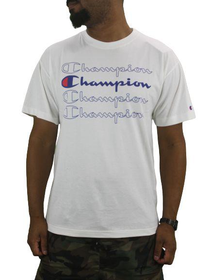 CAMISETA CHAMPION REPEAT LOGO BRANCA
