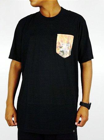 Camiseta Thrasher Bolso Flame Preto