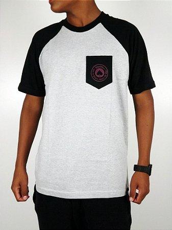 Camiseta Thrasher Raglan Mescla Com Bolso
