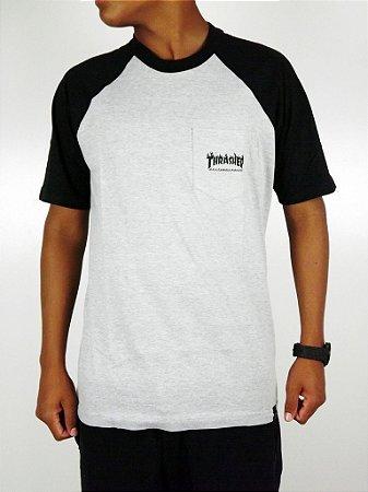 Camiseta Thrasher Raglan Mescla