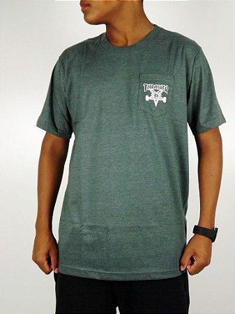Camiseta Thrasher Basic Logo Com Bolso