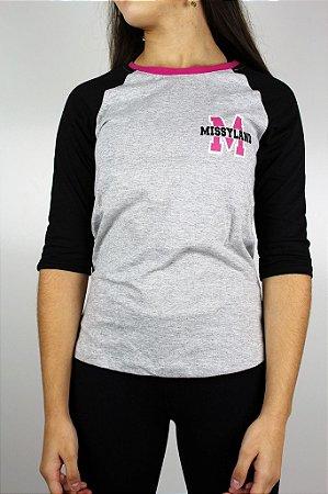 Camiseta Qix Missy Raglan 3/4
