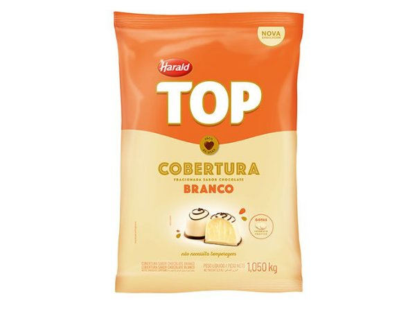 Cobertura Chocolate Branco TOP - Gotas 1,050Kg Harald
