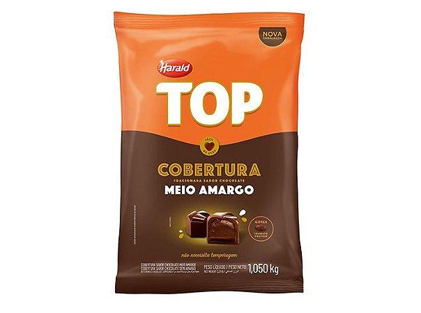 Cobertura Chocolate Meio Amargo TOP - Gotas 1,050Kg Harald