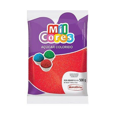 Açúcar Colorido Vermelho Mil Cores 500gr