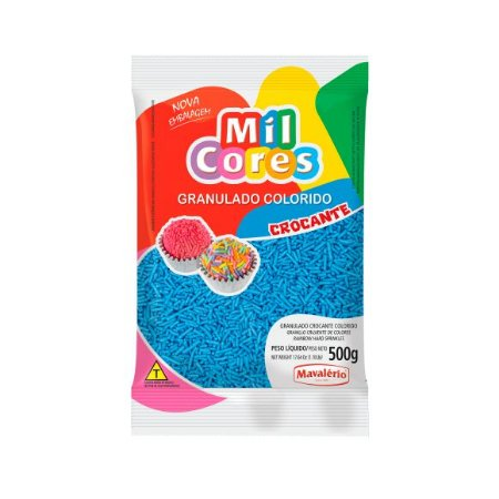 Granulado Crocante Azul - 500gr