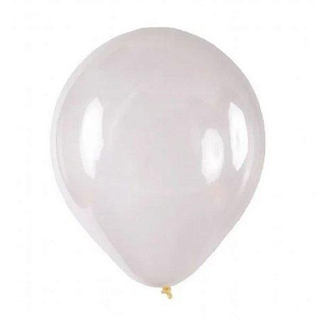 Balão/Bexiga Lisa Cristal Nº 16 - 10 unidades