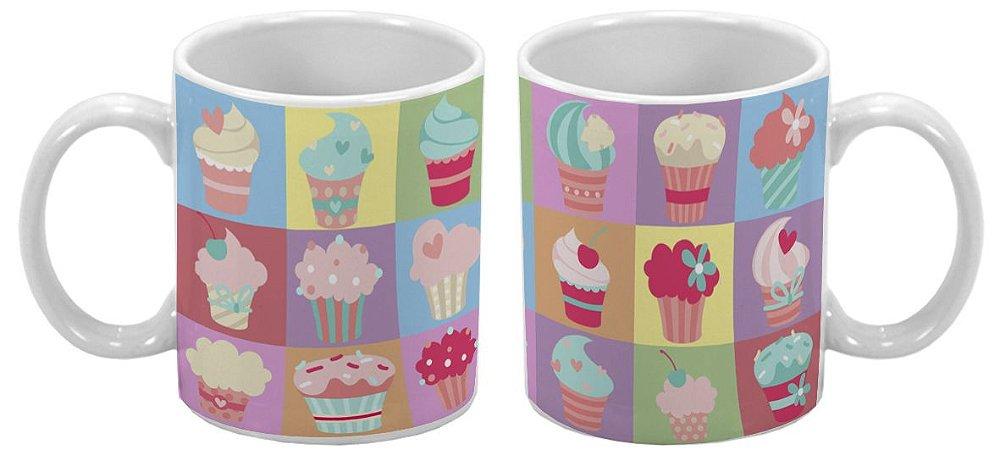 Caneca Especial 300ml Cupcake Colorido - 1 unidade