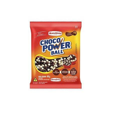 Choco Power Ball Mini Sabor Chocolate e Chocolate Branco - 80gr