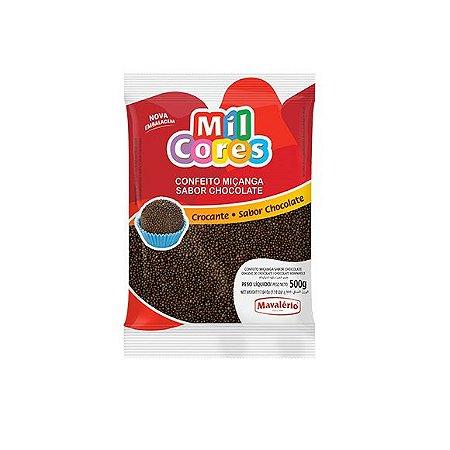 Confeito Miçanga Mil Cores Sabor Chocolate - 500gr