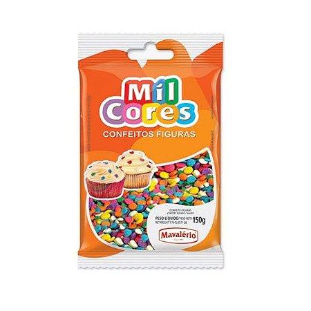 Confeito Figura Confetes Mil Cores -150gr
