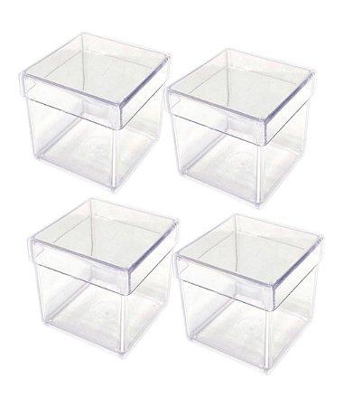 Caixinha de Acrílico 5x5 Transparente - Kit c/ 50