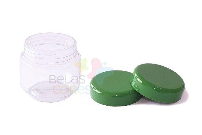 Pote de Papinha de Plástico 120gr - Verde Bandeira - 10 Unids