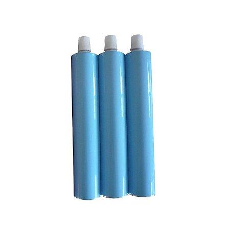 Bisnagas De Alumínio Para Brigadeiro 30gr - Cor Azul - Kit c/ 10 unidades