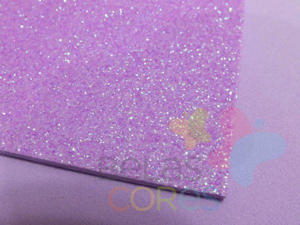 Folha de EVA 40x60cm - Glitter Neon Roxo - 5 unidades