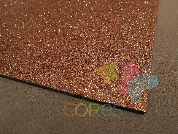 Folha de EVA 40x60cm - Glitter Marrom - 5 unidades