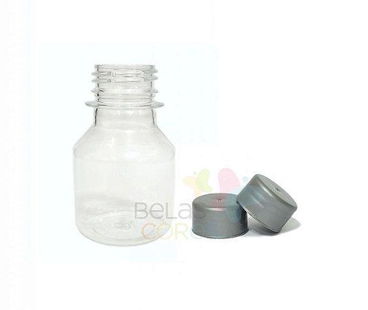 Garrafinha PET Pitoca 70 ml - Tampa Prata - 10 unidades