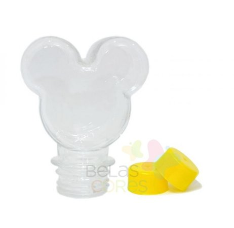 Baleiro/Tubete Mickey 90ml Tampa Amarela - 10 unidades
