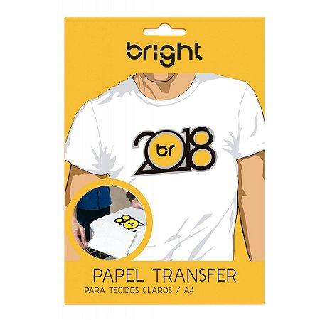 Papel Transfer Light - Para Tecidos Claros - Bright ou Similar - Pacote c/ 100 folhas