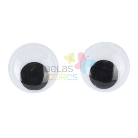 Olhinhos / Olho Móvel 14 mm Para Artesanato - Kit c/ 100 unidades