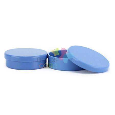 Latinhas de Plástico Mint to Be 5,5x1,5 cm Azul Royal - Kit com 50 unidades