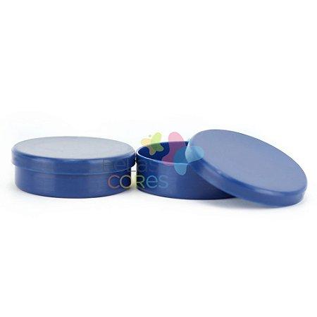 Atacado - Latinhas de Plástico Mint to Be 5,5x1,5 cm Azul Marinho - Kit com 500 unidade