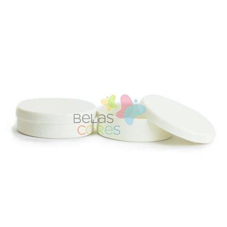 Latinhas de Plástico Mint to Be 5,5x1,5 cm Branca - Kit com 50 unidades