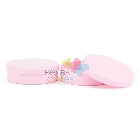 Atacado - Latinhas de Plástico Mint to Be 5,5x1,5 cm Rosa - Kit com 500 unidades