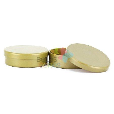 Latinhas de Plástico Mint to Be 5,5x1,5 cm Dourada - Kit com 50 unidades