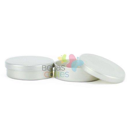 Latinhas de Plástico Mint to Be 5,5x1,5 cm Prata - Kit com 50 unidades