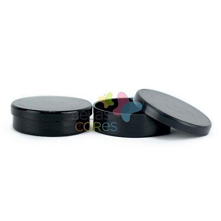 Atacado - Latinhas de Plástico Mint to Be 5,5x1,5 cm Preta - Kit com 500 unidades