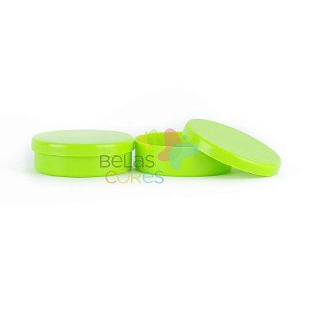 Latinhas de Plástico Mint to Be 5,5x1,5 cm Verde Limão - Kit com 100 unidades