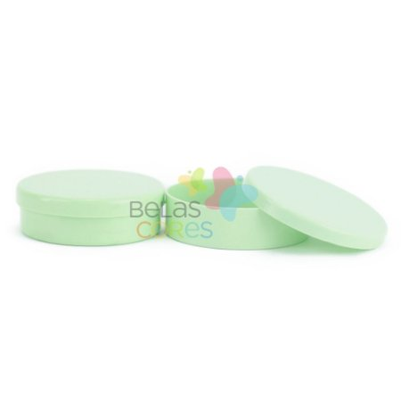 Latinhas de Plástico Mint to Be 5,5x1,5 cm Verde Bebê - Kit com 50 unidades
