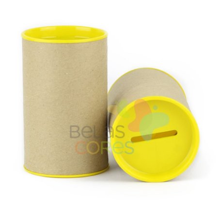 Cofrinho 10x6 para Lembrancinha - Amarelo - Kit c/ 10 unidades