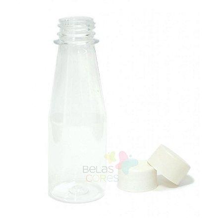 Garrafinha Cajuzinho - Suco PET 100 ml Tampa Branca - 10 unidades
