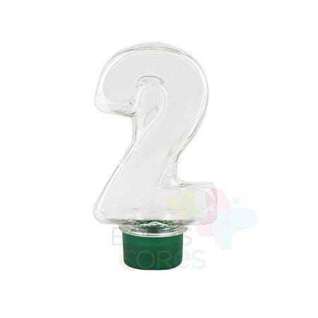 Tubete Pet Número 2 - 80 ml Tampa Verde Bandeira - 10 unidades