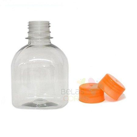 Frasco Prisma 200 ml Tampa Laranja - 10 unidades
