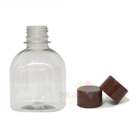 Frasco Prisma 200 ml Tampa Marrom - 10 unidades