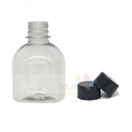 Frasco Prisma 200 ml Tampa Preta - 10 unidades