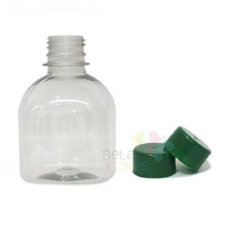 Frasco Prisma 200 ml Tampa Verde Bandeira - 10 unidades